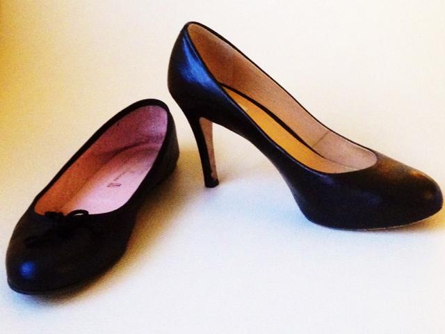 High heels vs. Flats